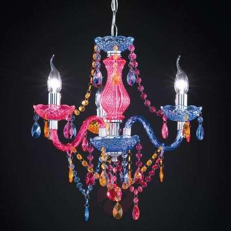 Multi-col. Perdita chandelier with acrylic deco-8029051-31