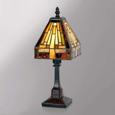 Multi-faceted table lamp BEA in the Tiffany style