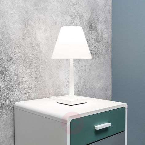 Multi-functional Dina+ LED table lamp in white