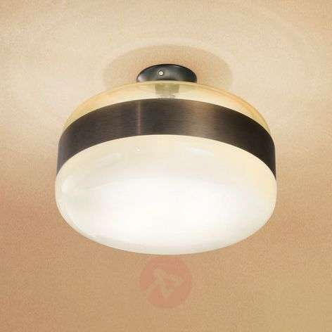 Murano glass ceiling light Futura, bronze