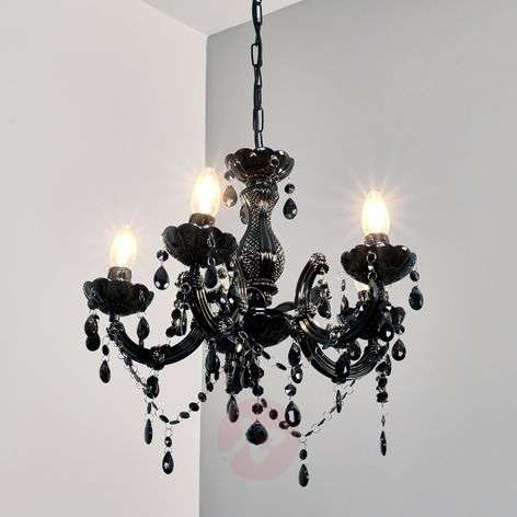 Mysterious-looking Arabesque chandelier, black
