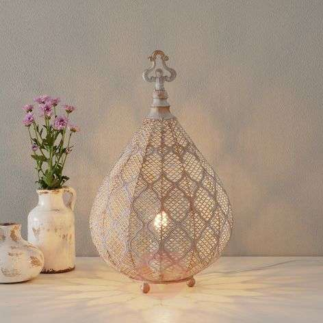 Nabila LED table lamp with an oriental design-8582364-31