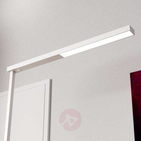 Narrow LED office floor lamp Tamilo, white