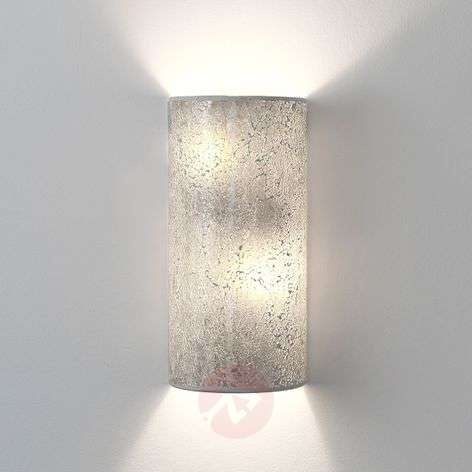 Narziso silver wall light made of glass mosaic