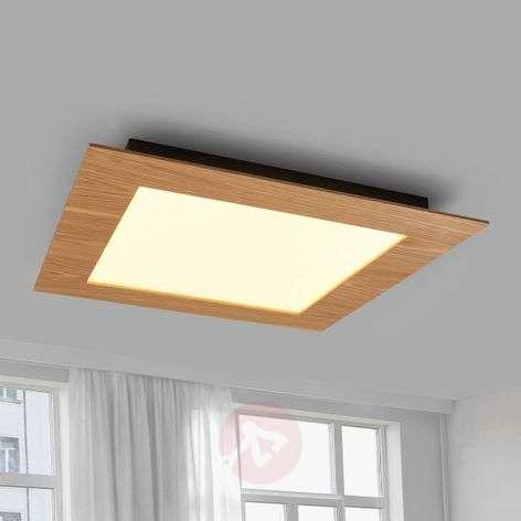 Natural LED panel Deno with wood