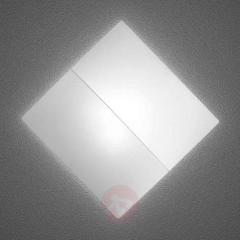 Nelly S - square wall light with fabric