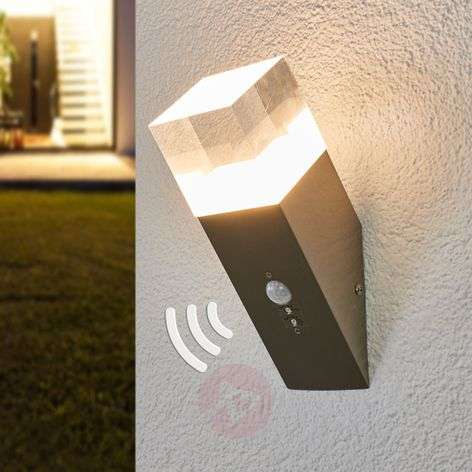 Nerius motion sensor outdoor wall light, LED