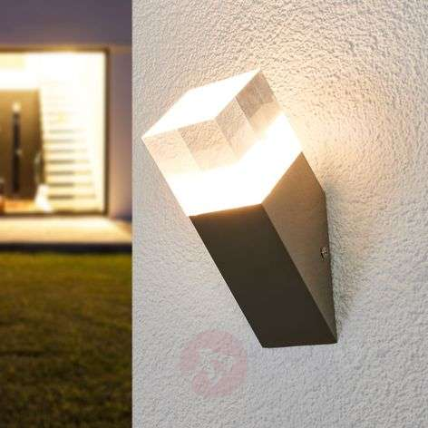 Nerius oblique stain. steel LED outdoor wall lamp