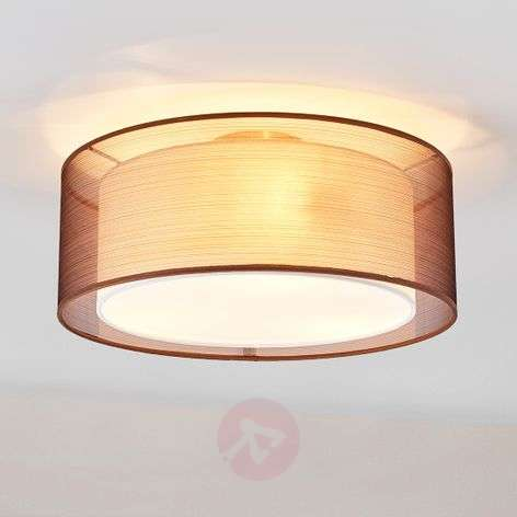 Nica brown fabric ceiling light