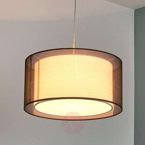 Nica fabric hanging light in brown