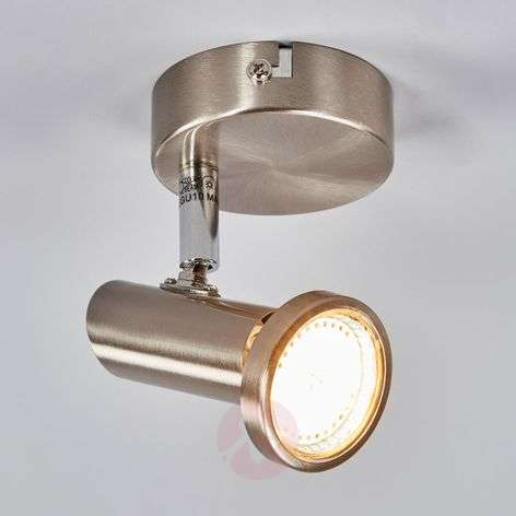 Nickel-coloured LED wall spotlight Cosma