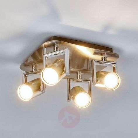 Nickel Luciana LED kitchen spotlight, 4-fl.-9975027-31