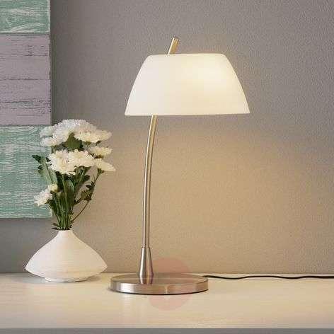 Nickel-plated table lamp Malmö, nickel