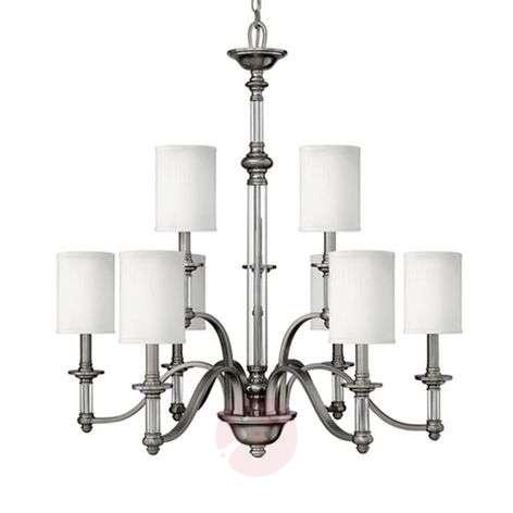 Nine-bulb chandelier Sussex, brushed nickel