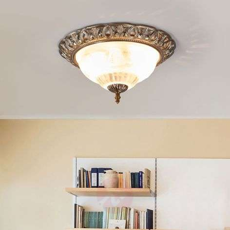 Noble ceiling light Teresa, decorative edge