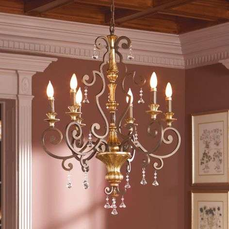 Noble chandelier Marquette with crystal ornaments-3048309-31