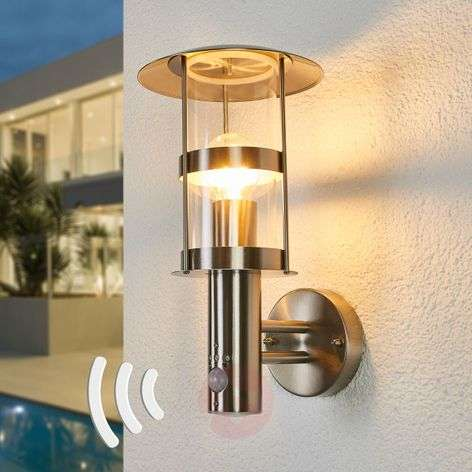 Noemi sensor outdoor wall lamp, stainless steel