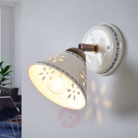 NONNA wall light, made of white ceramic