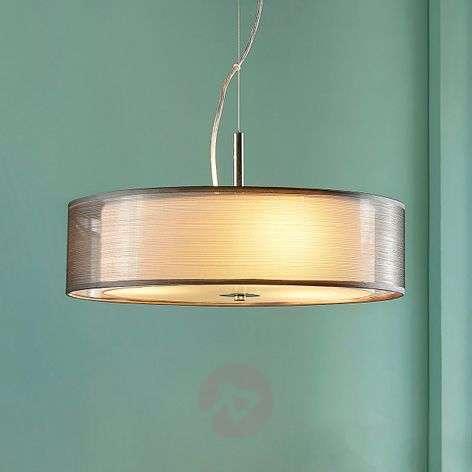 Noralie - grey fabric pendant lamp, round