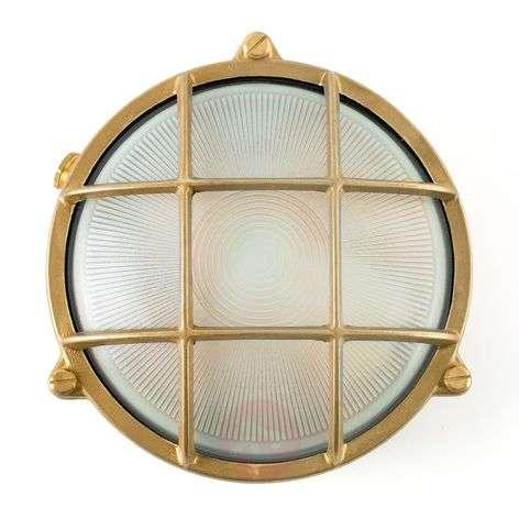 Noray round bulkhead light, brass-coloured