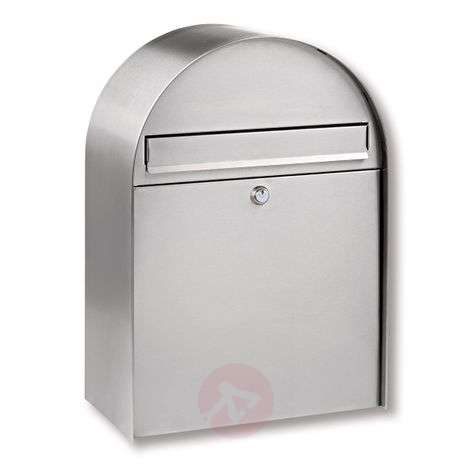 Nordic stainless steel letter box with curved form