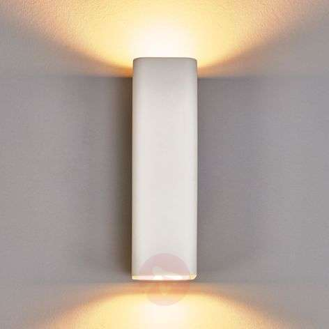 Norwin 2-bulb rectangular plaster wall light-9613040-32