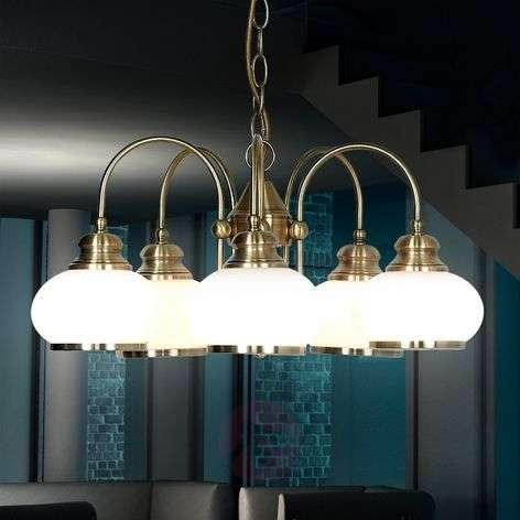 NOSTALGIKA 5 Lamp Pendant Lamp in Antique Brass