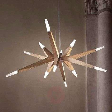 Oak modern - LED hanging light Flashwood, 140 cm
