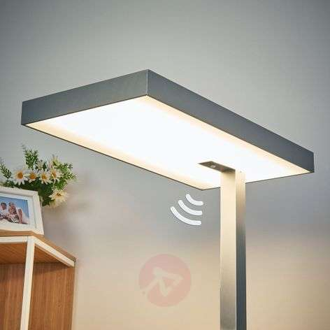 Office LED floor lamp Nora with motion detector