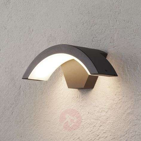 Ohio LED outdoor wall light, anthracite