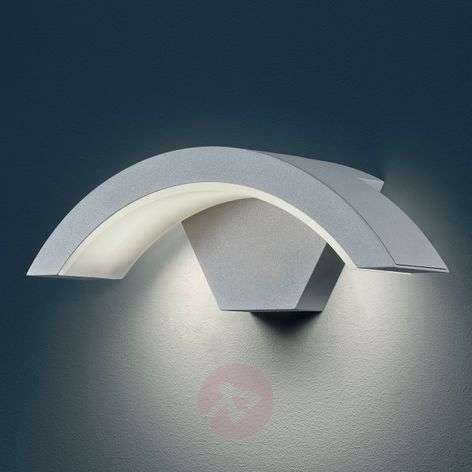 Ohio LED outdoor wall light, titanium colour-9004663-31