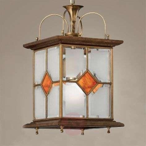 Ole wooden hanging light
