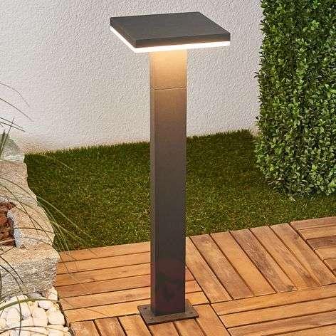 Olesia - LED bollard lamp in dark grey