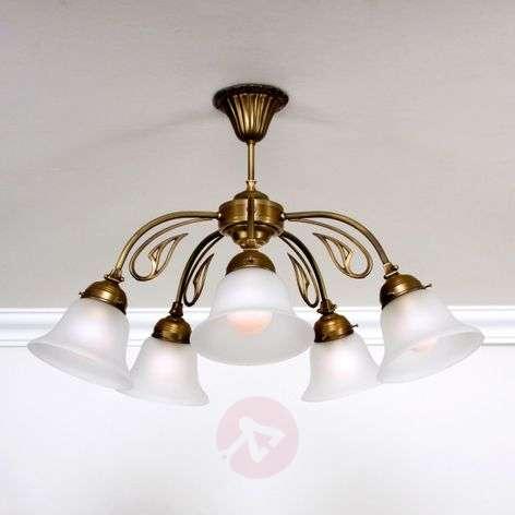 OLGA five-bulb ceiling light brass
