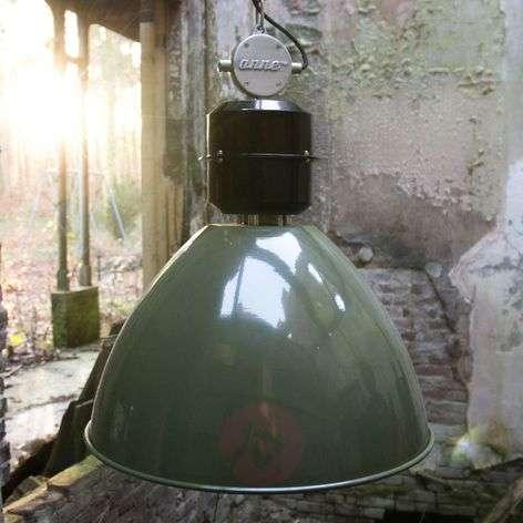 Olive green Frisk pendant light, industrial design