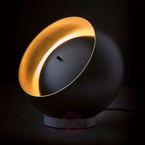 Oluce Eva spherical LED table lamp, black
