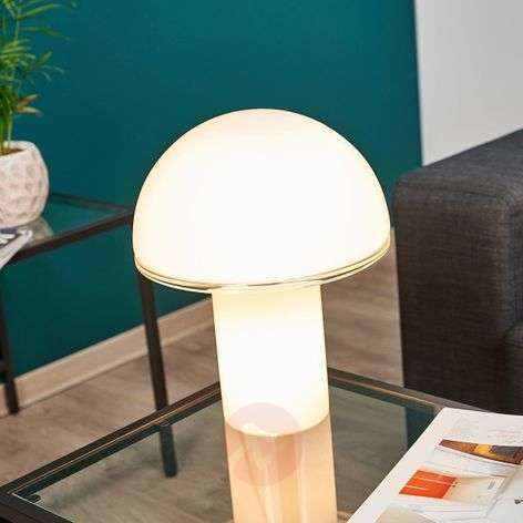 Onfale medio designer table lamp, glass