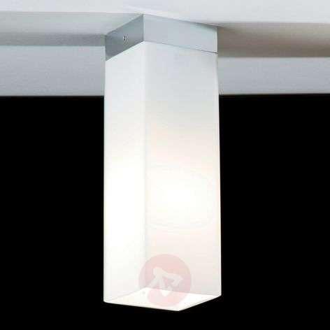 Opal glass ceiling light QUADRO BOX w metal border