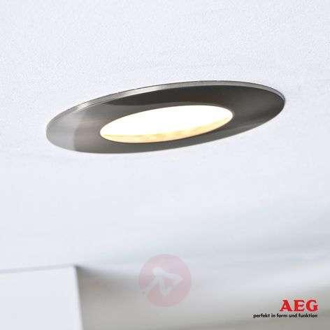 Orbita LED recessed light, set of 3, matt nickel