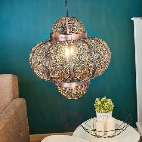 Oriental-looking pendant lamp Etti