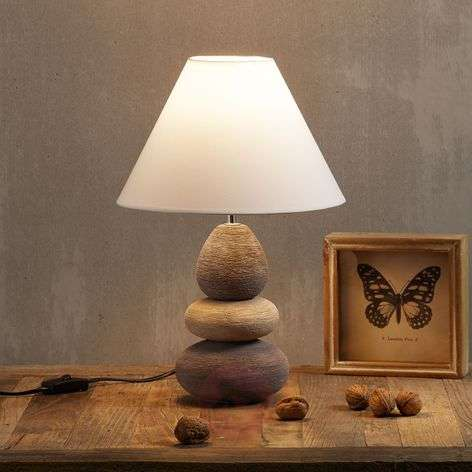 Original table lamp BALON brown/beige