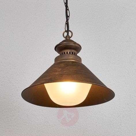 Outdoor hanging lamp Millane, black-gold-9630047-31