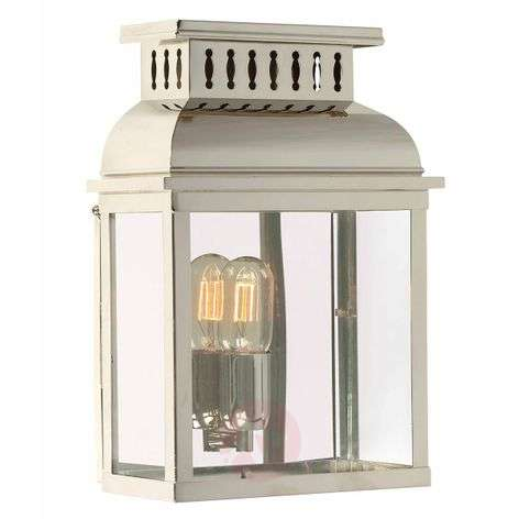 Outdoor wall lamp Westminster in polished nickel