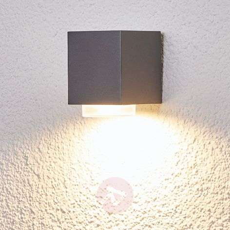 Outdoor wall light Jovan in dark grey