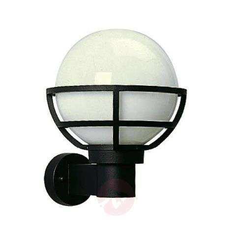 Outdoor wall light with opal glass
