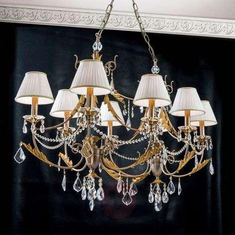 Oval chandelier Miramare, 8-light
