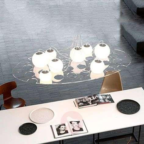 Oval designer hanging light Plateau, length 190 cm