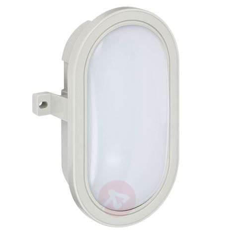 Oval LED outdoor wall lamp Mats made of plastic