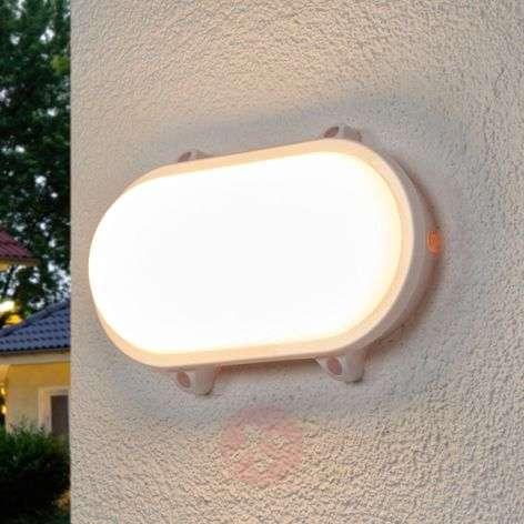 Oval Mondo LED outdoor light in white