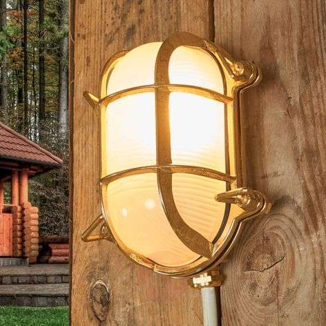 Oval outdoor wall light Bengt brass-6515264-31